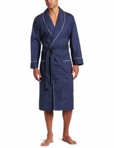 Nautica Men's Woven Mediterranean Dot Robe, Peacoat, Large/X-Large Nautica. $36.99