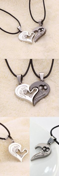 Are you in love? Show your love with this  Lover Couples Necklace, I love you heart pendant. Grab yours now at 50% off