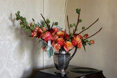 Emily Thompson floral arrangment. Roses & branches.