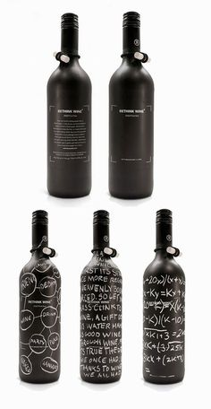 "30 Amazing Examples Of Eye Popping Packaging Design- ""Rethink Wine"""