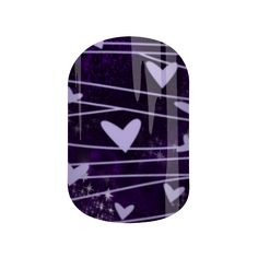 Purple Hearted | Jamberry Nail Art Studio | Custom Design by Dazzling Darlene |  Wear your heart on your sleeve and take everyone's breath away with these gorgeous deep purple wraps you are sure to love.