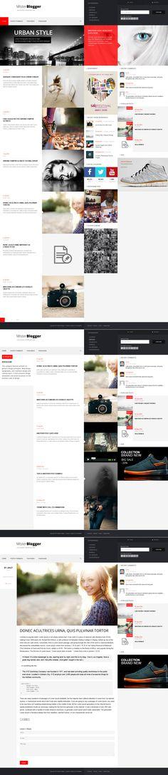 MisterBlogger - Blog/Magazine WordPress Theme by OrangeIdea #webdesign