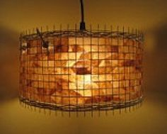Drum light made out of coffee filters