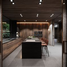 Forest House Forest House on Behance Kitchen Room Design, Luxury Kitchen Design, Best Kitchen Designs, Luxury Kitchens, Home Decor Kitchen, Interior Design Kitchen, Nice Kitchen, Forest House, Cuisines Design