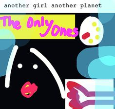 seven inch single cover of the Only Ones another girl another planet by ENKI Punk Poster, Post Punk, Car Park, Rockers, Painting & Drawing, Alternative, Greeting Cards, Wall Art, Classic