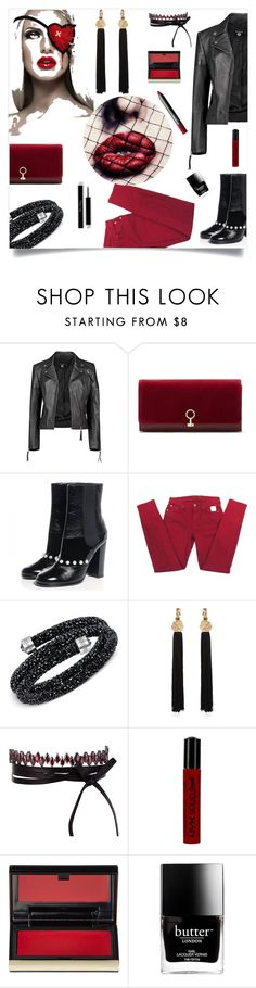 """""""Chanel"""" by tina-pieterse ❤ liked on Polyvore featuring Boohoo, Louise et Cie, Chanel, 7 For All Mankind, Swarovski, Yves Saint Laurent, Fallon, NYX, Kevyn Aucoin and Butter London"""