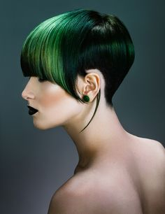 Hairdressing trends & professional beauty news from Canada's top salon industry magazine, plus Contessa updates, nail how to's, job postings & more! Pixie Hairstyles, Cool Hairstyles, Creative Hair Color, Stylish Haircuts, Extreme Hair, Haircut And Color, Coloured Hair, Hair Shows, Creative Hairstyles