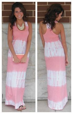 Pretty summer maxi dress in white and pink but would look better in blue shades I think! FUN AND FASHION HUB Summer Outfits, Cute Outfits, Summer Dresses, Summer Maxi, Summer Clothes, Pink Clothes, Holiday Dresses, Dress Skirt, Dress Up