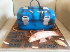 My Dad's 80th Birthday Cake  Fishing Tackle Box