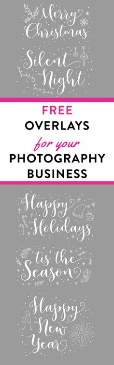 FREE Photo Overlays for your photography business, FREE Christmas photo overlays. #photographybusiness #photooverlays