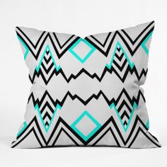 Elisabeth Fredriksson Wicked Valley Pattern 1 Throw Pillow | DENY Designs Home Accessories