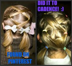 Easy, cute  quick hair-do for kids!