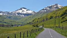 Fond de la vallée de Cheylade - (Cantal),France.