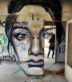 Banksy Bristol Graffiti Iwo Jima Ghetto burnt out car