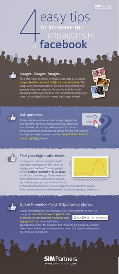 4 Ways to Increase Fan Engagement on #Facebook #infographic #socialmedia | #SMA #editorial #team makes #content #management about #facebook #infographic www.sma-socialmediaagentur.com