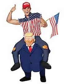 Men's Presidential Piggyback Costume by Spirit Halloween Trump Halloween Costume, Popular Halloween Costumes, Spirit Halloween, Happy Halloween, Funny Costumes, Boy Costumes, Family Costumes, Pirate Costumes, Costume Ideas