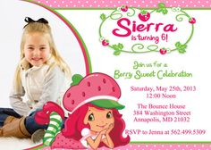 Strawberry shortcake birthday party invitation digital file strawberry shortcake birthday party invitation by funpartyprints 899 filmwisefo Gallery