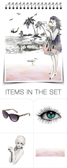 """""""Hot coffee at the beach"""" by kikilea ❤ liked on Polyvore featuring art"""