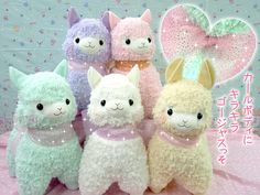 Arpakasso alpaca plushies from Japan. So cute X3