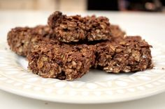 Chocolate and Almond Butter Flapjacks | Livia's Kitchen