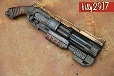 Started custom painting Nerf guns a few months ago. Had fun with this one and its retro pin-up theme. Arma Steampunk, Steampunk Weapons, Steampunk Gadgets, Sci Fi Weapons, Steampunk Cosplay, Weapon Concept Art, Weapons Guns, Nerf Mod, Fantasy Armor