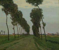 """'The Road to Sluis, Holland,"" Charles Warren Eaton, ca. 1910, oil on canvas, 19 × 23"", private collection."