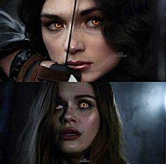 ❤Allison&Lydia❤ Teen Wolf, Halloween Face Makeup