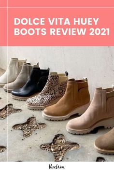 The days of apple picking, pumpkin patches and PSLs are almost upon us. Get your autumn wardrobe ready with the Dolce Vita Huey Boots— the perfect fall footwear. #shoes #footwear #boots Pumpkin Patches, Footwear Shoes, Fall Shoes, Fall Trends, Fall Wardrobe, Running Shoes, Autumn Fashion, High Heels, Booty