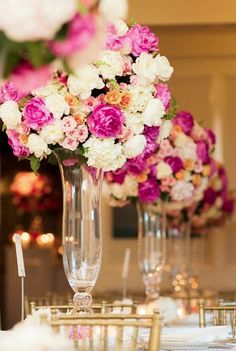 Featured Photographer: Nancy Aidee Photography; Wedding reception centerpiece idea.