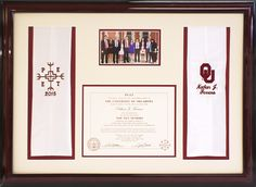 Diploma Collage With Graduation Photo And Tassel
