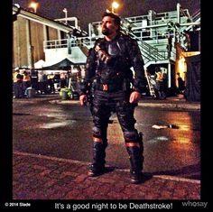 Manu Bennett as Slade Wilson/Deathstroke on Arrow
