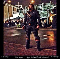 Manu Bennett as Slade Wilson/Deathstroke on Arrow
