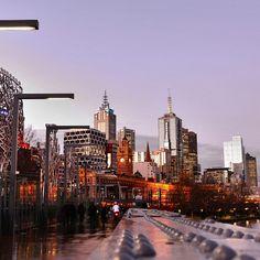 Skyline from Sandridge Bridge #Melbourne