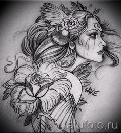 Картинки по запросу девушка пузыри эскизы тату картинки