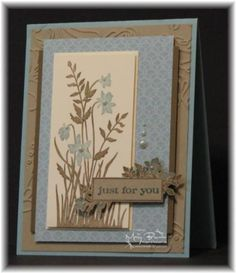 Stampin Up - Just Believe. Pretty and simple card.