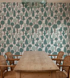 makelike (a shop) Zig Zag Wallpaper : Pale Blue