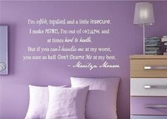 I found 'Marilyn Monroe Quote - Vinyl Wall Decal Sticker Art' on Wish, check it out!