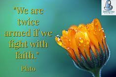 """""""We are twice armed if we fight with #faith."""" - Plato #quotes"""