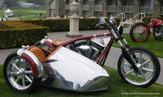 Airstream Chrome sidecar, made by Jesse James & West Coast Choppers of Long Beach, California
