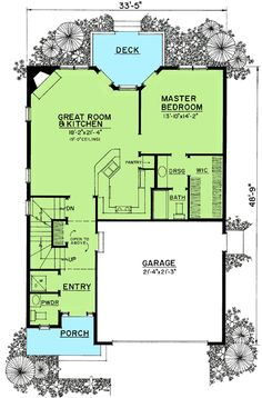 Miniature Jewel in Three Styles - 43063PF | 1st Floor Master Suite, Cottage, Country, Craftsman, Narrow Lot, PDF | Architectural Designs