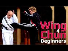 Wing Chun for beginners lesson 45: Using the basic kick combination - YouTube Kung Fu Techniques, Self Defense Techniques, Self Defense Moves, Best Self Defense, Gym Workout Tips, Boxing Workout, Workouts, Wing Chun Wooden Dummy, Mma