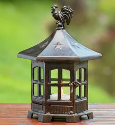 Spi Home 34426 Garden Statues And Decor Spi Home Cupola Rooster Garden Lantern - Modern Hanging Candle Lanterns, Garden Lanterns, Outdoor Light Fixtures, Outdoor Lighting, Outdoor Decor, Lighting Ideas, Amazing Gardens, Beautiful Gardens, Latest House Designs