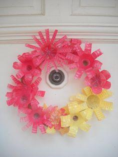 Indie Inventions: Water Bottle Wreath