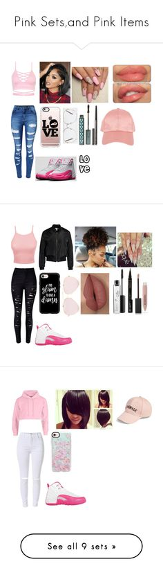"""""""Pink Sets,and Pink Items"""" by jaden-norman ❤ liked on Polyvore featuring WithChic, NIKE, Casetify, River Island, memento, Burberry, Armitage Avenue, LE3NO, Sans Souci and MAC Cosmetics"""