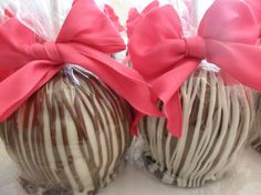 gourmet white & milk chocolate apples from TaysteeCreations on etsy