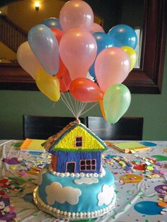 "make our stage house look like the ""Up"" house"