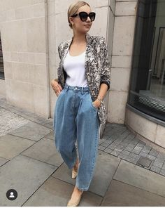 Fall Outfits, Casual Outfits, Fashion Outfits, Street Chic, Street Style, Pijamas Women, Estilo Jeans, Look Blazer, Mom Jeans Outfit