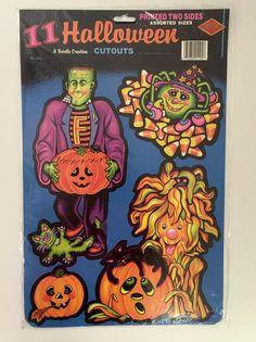 vintage beistle halloween cutouts 01105 11 cute halloween decorations 1991 nos