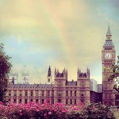A rainbow in London.