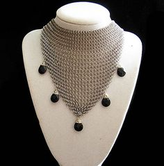 Sophisticated Stainless steel Mesh necklace by RaquelChelouche